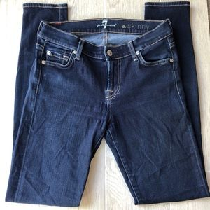 7 For All Mankind skinny jeans dark wash